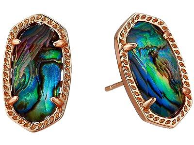 Kendra Scott Ellie Earring (Rose Gold Abalone Shell) Earring