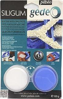 Pébéo - Gédéo Siligum 100 G - Pâte Siligum Spécial Création de Moule - Pâte à Mouler Silicone Petites Dimensions & Décors ...