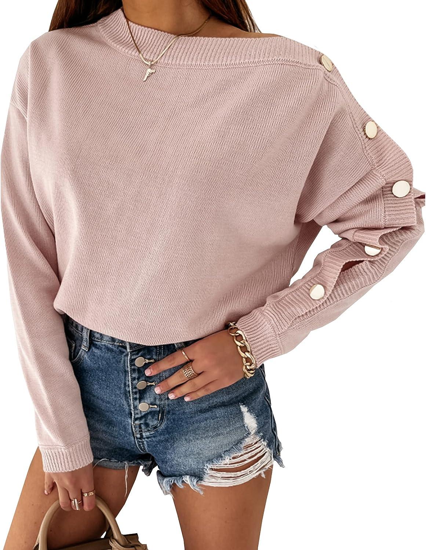 CinShein OFFicial Cheap site Women's Sweater Long Sleeve Ne Casual Crew Off Shoulder