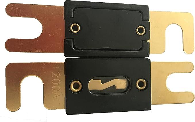 Kolacen Anl Vergoldete Sicherung 50 Amp 2 Stück Auto