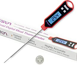 Digital Meat Thermometer by Kitchen Precision - Ultra Fast & Highly Accurate - Spare Battery Included - Long Probe Instant...