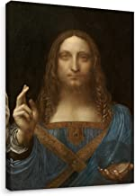 Niwo Art (TM - Salvator Mundi, by Leonardo Davinci, Oil Painting Reproduction - Giclee Wall Art for Home Decor, Gallery Wrapped, Stretched, Framed Ready to Hang (18