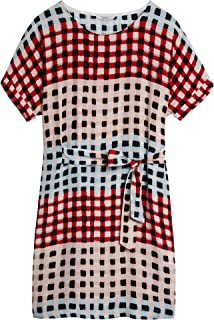 52b0a323597 Sandwich Clothing - Printed Check Dress, Washed Rose