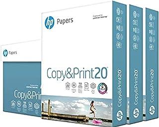 hp Printer Paper | 8.5 x 11 Paper | Copy &Print 20 lb | 3 Ream Case - 1,500 Sheets | 92 Bright | Made in USA - FSC Certifi...