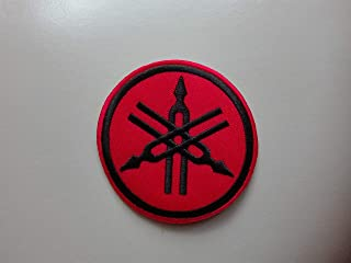 Patch   Yamaha   red/black   round  rund   Patch   iron on  Aufnäher   Bügelbild