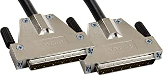 Amphenol CS-SCSI3DB680-000.5 SCSI-3 LVD/SE Ultra3 SCSI Cable, HD68 Male/Male, 0.5 m, 1.6', Black