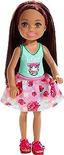 Mattel Barbie Chelsea-Muñeca Morena con Falda de Flores,