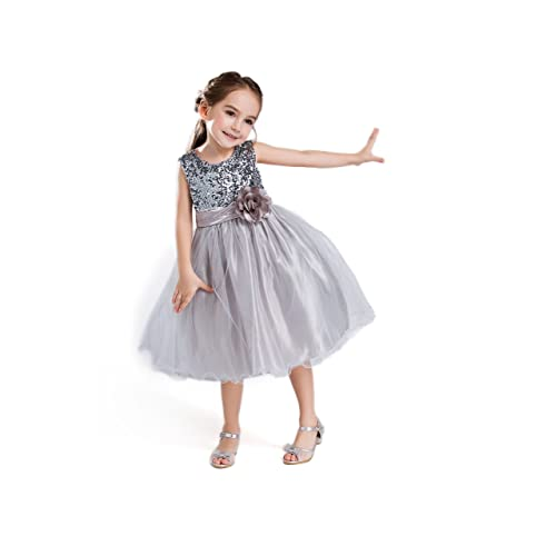 7e52bf9196fd ELSA   ANNA® Ragazze Principessa Abiti Partito Vestito Costume Abito da  Sposa Abito di Natale
