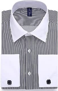 Alimens & Gentle French Cuff Regular Fit Dress Shirts (Cufflink Included)