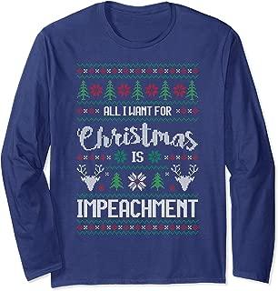 Ugly Christmas Sweater Impeach Trump Shirt