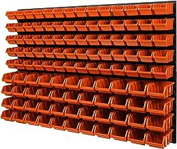 Wandplank stapelboxen - 1152 x 780 mm - 114 stuks. Bokken opslagsysteem gereedschapswand Schuiplank (Orange)