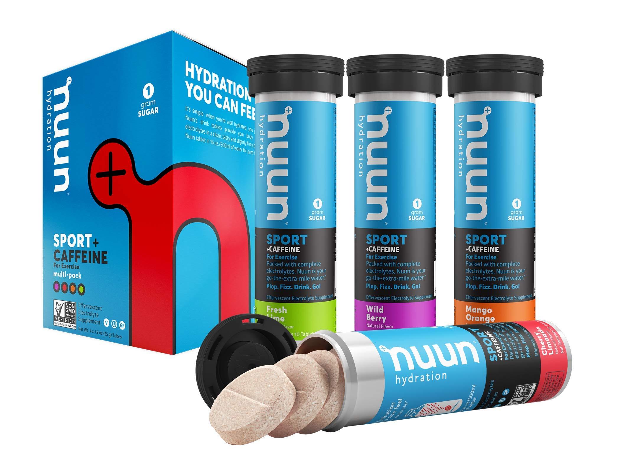 Nuun Sport Caffeine Electrolyte Rich Mixed flavor