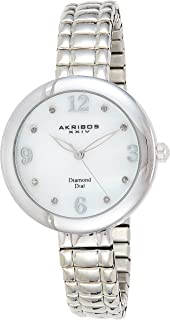 Akribos XXIV Impeccable Women's Mother of Pearl Dial Metal Band Watch - AK765SS