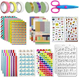 Scrapbooking kit,50 PCS Scrapbooking Accessoires Autocollant Album Photo Autocollants Amour DIY Agenda Cartes Décoration p...