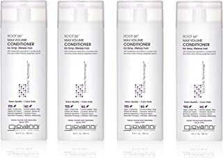 GIOVANNI Root 66 Max Volume Conditioner, 8.5 oz. for Thin Fine Hair, Sea Salt, Kiwi, Pro-Vitamin B5, Horsetail Extract, Su...