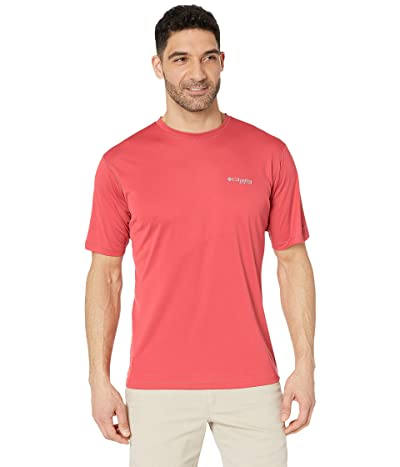 Columbia PFG ZERO Rulestm S/S Shirt (Sunset Red) Men