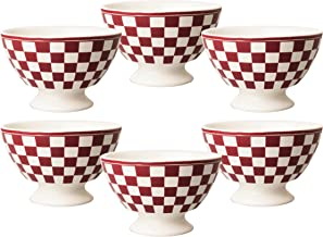 Kom Amsterdam 6X361513x 8cm Set of 6Medium Bowl–Damier Red