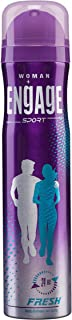 Engage Sport Fresh for Her Deo Spray, 150ml / 165ml (Weight May Vary)