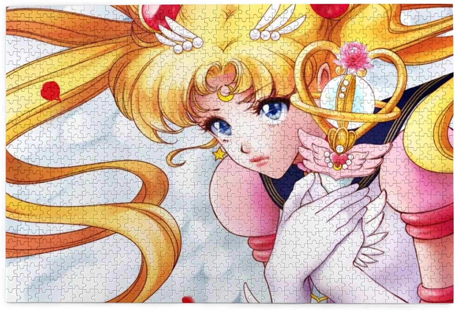 IGBSGFN Sailor Moon Characters Puzzles 1000 Piece Family Party Games Jigsaw Puzzles for Fans Gift