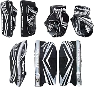 Franklin Sports NHL Kids Street Hockey Goalie Pads Set - Kids Hockey Training Equipment - Includes Block Pad, Catch Glove,...