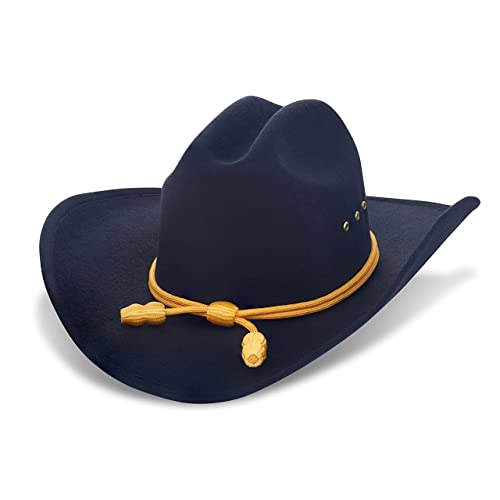 Western Cowboy Hat - Cattleman s with Cavalry Band - Black e03c65ce412