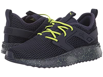 Puma Kids Pacer Next Excel Outdoor Hustle AC (Little Kid) (Peacoat/Yellow Alert/PUMA White) Boys Shoes