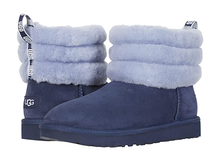 UGG  Fluff Mini Quilted (Navy) Womens Pull-on Boots