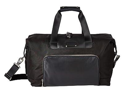 Tumi Alpha 3 Double Expansion Travel Satchel (Black Chrome) Luggage