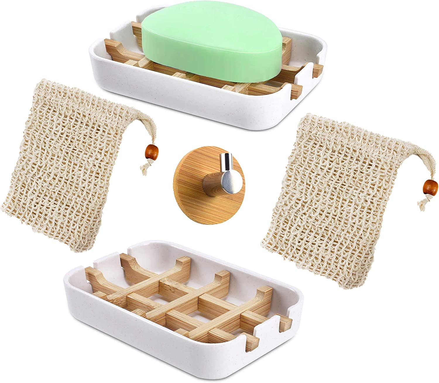 Sustainable Soap Dish Bag Set – Dishes Self-Draining Sale shopping price 2