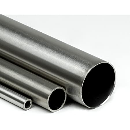 l/ängsnahtgeschwei/ßt /Ø 25,0 x 2 mm L/änge ca Konstruktionsrohr K240 1.4301 Hohl-Profil B/&T Metall Edelstahl Rundrohr geschliffen 3//4 2,0m