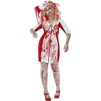 SmiffyS 44340X2 Disfraz De Enfermera Zombi Con Curvas Con Vestido ...