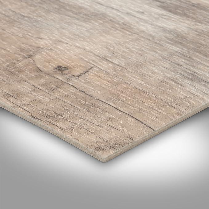 400 cm breit Holzoptik Diele Eiche creme wei/ß 300 BODENMEISTER BM70400 Vinylboden PVC Bodenbelag Meterware 200