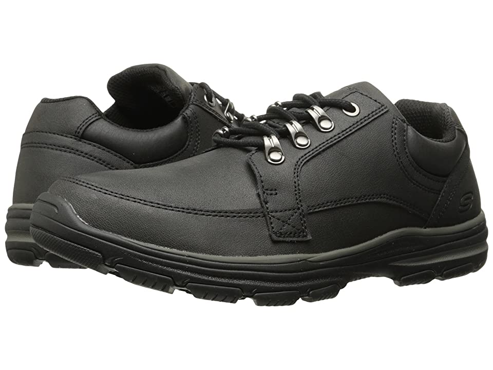 SKECHERS Classic Fit Garton Briar (Black Leather) Men