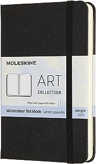 "Moleskine Art Watercolor Notebook, Hard Cover, Pocket (3.5"" x 5.5"") Plain/Blank, Black, 60 Pages"