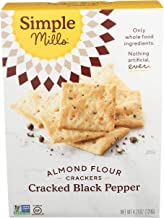 product image for Simple Mills Almond Flour Crackers, Black Cracked Pepper, Gluten Free, Flax Seed, Sunflower Seeds, Corn Free, Good for Snacks, Made with whole foods, (Packaging May Vary)