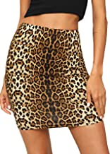 SheIn Women's Leopard Print Above Knee Bodycon Mini Skirt