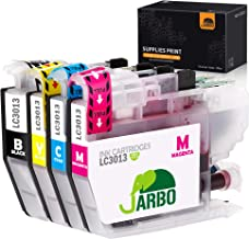 JARBO Compatible with Brother MFC-J491DW, MFC-J690DW, MFC-J895DW, MFC-J497DW Printer, Compatible Ink cartridges for Brother LC3013, 1 Set(1 Black, 1 Cyan, 1 Magenta, 1 Yellow)