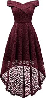 Best burgundy lace off the shoulder dress Reviews