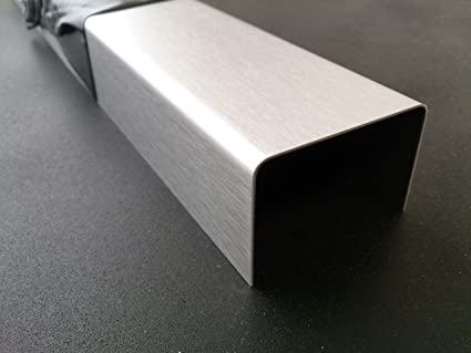 3mm U-Profile Edelstahl geb/ürstet 1.4301 L/änge 2000mm 20x30x20mm