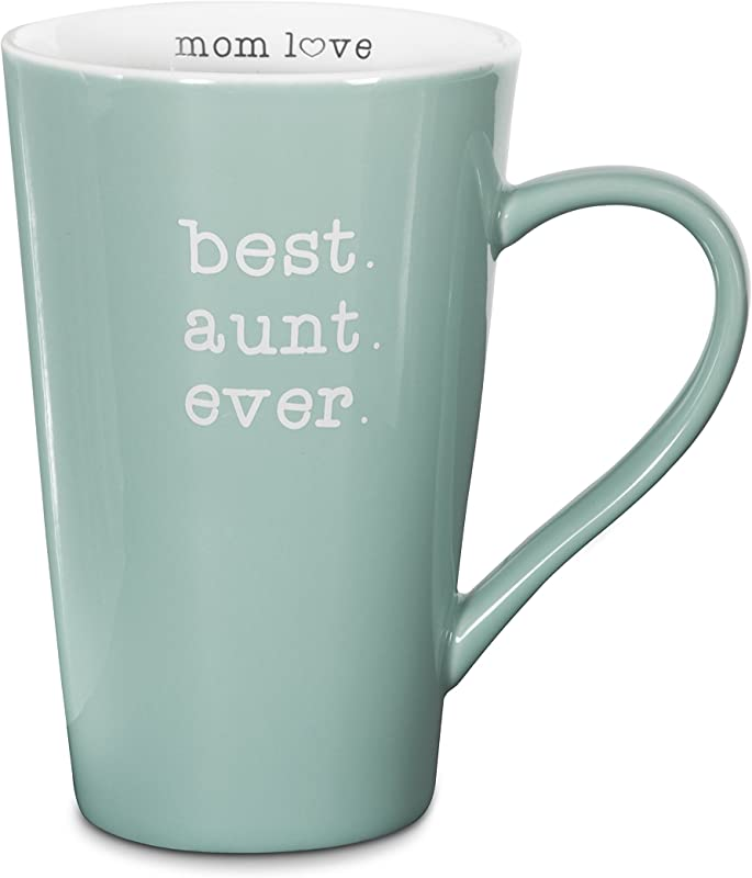 Pavilion Gift Company 14140 Best Aunt Ever Stoneware Latte Mug 18 Oz Multicolored