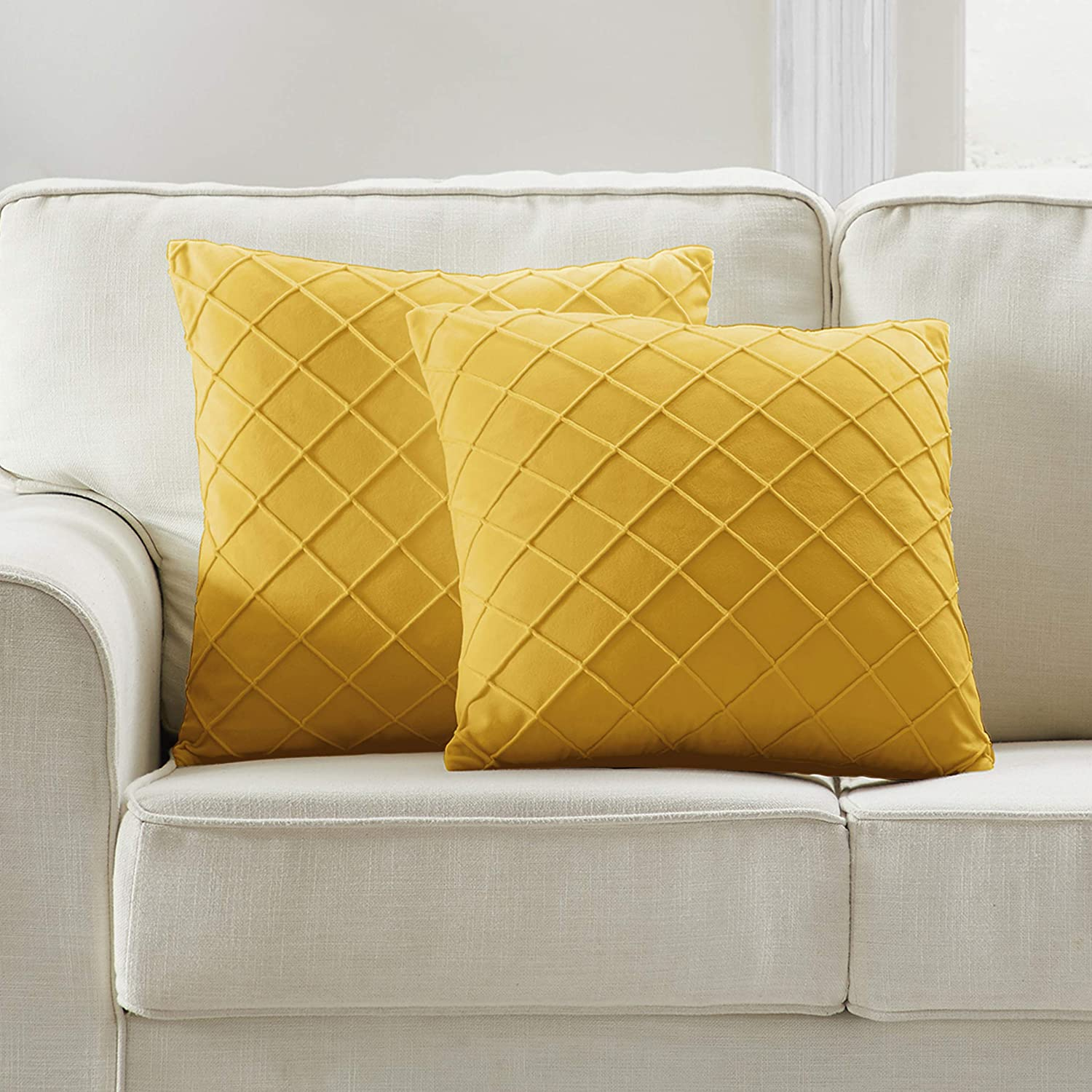 Longhui bedding Yellow Throw Pillow Arlington Mall Decora x Inches 18 Challenge the lowest price of Japan ☆ Cover