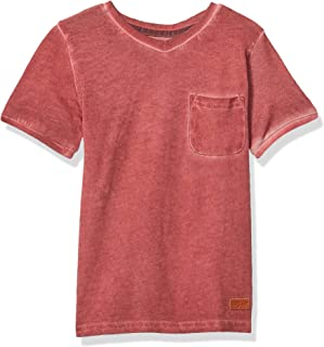 7 For All Mankind Boys' Short Sleeve V-Neck Tee