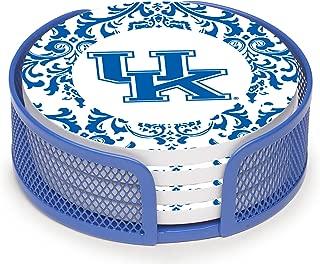 Thirstystone VUKY3-HA27 Stoneware Drink Coaster Set with Holder, University of Kentucky Pattern