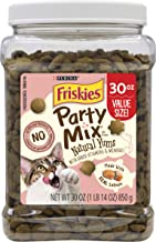 Friskies Party Mix Natural YUMS Adult Cat Treats – 20 oz. & 30 oz. Canisters