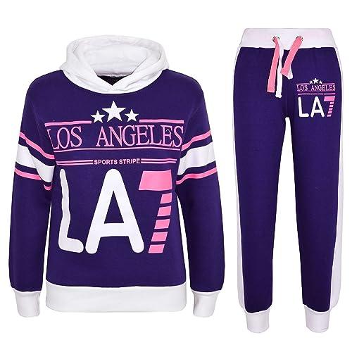 c35743a71b4f A2Z 4 Kids® Bambini Ragazze Tuta Los Angeles LA7 Stampare Felpa con  Cappuccio & Buttom