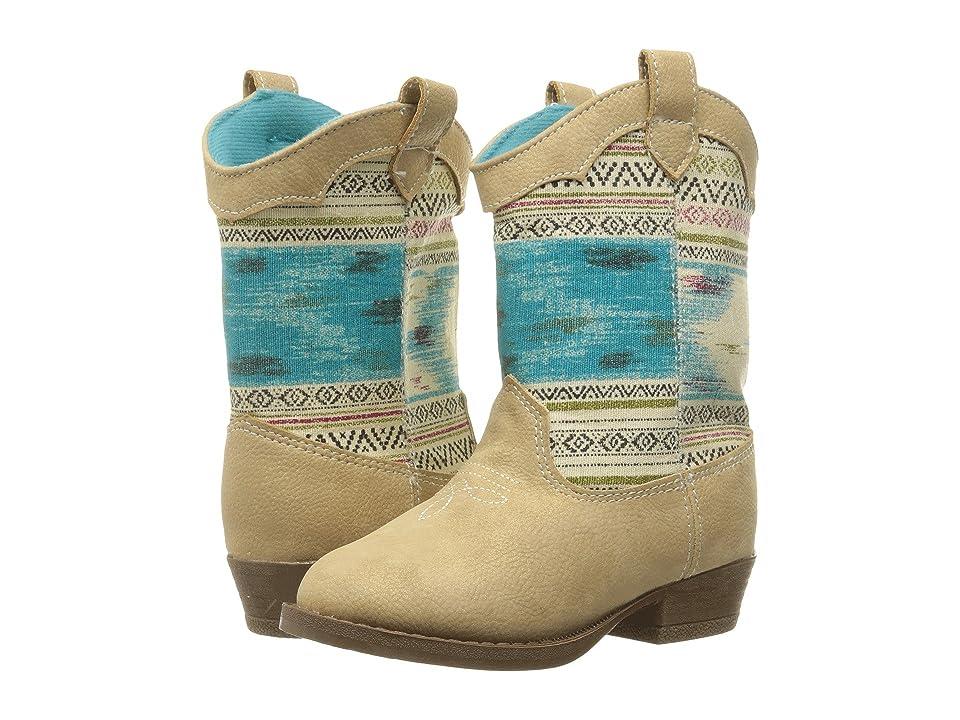 Baby Deer Aztec Western Boot (Infant/Toddler) (Tan) Girls Shoes