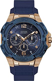 Guess Mens Quartz Watch, Analog Display and Silicone Strap W1254G3