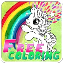 little horse ponie cute coloring kids