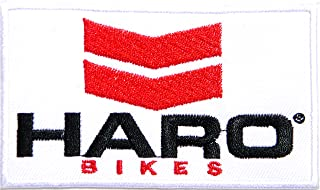 AUTOMOTIVE PACTH CAFE HARO Bikes Old School BMX and Mountain Bicycle Race Sport Logo Sign Patch Iron on Applique Embroidered T Shirt Jacket Baseball Cap Hat Cloth Emblem Sign Advertising Craft Gift