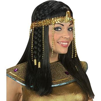 Widmann 3289Y - Ägyptisches Stirnband, mit Perlen, gold, Haarschmuck, Haarreifen, Haarband, ägyptische Kaiserin, Cleopatra, Motto Party, Karneval